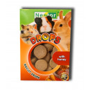 Biscuit drops for  rodents and rabbits with honey
