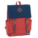 AU terakota i  niebieski plecak z wyściełaną Autono