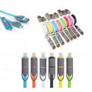 2in1 Micro USB +  Lightning Ladekabel aufrollbar