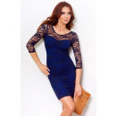 Lace dress tied at the back - Navy 14-1