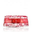RED PVC LADY BAG - Skóra bydlęca