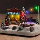 Weihnachtsszene  mit Lichtern und Bewegung (7 LED)