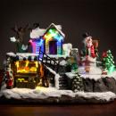 Weihnachtsszene  mit Lichtern und Bewegung (12 LED)