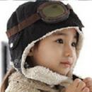 hurtownia Odziez dla dzieci i niemowlat: Czapka pilotka dla dzieci - czarna