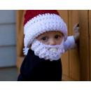 hurtownia Odziez dla dzieci i niemowlat: Czapka z brodą  Święty Mikołaj dla dzieci