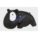 Knautschkissen   Bulldogge , schwarz, ca. 30 cm