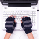 USB warm gloves - Grey