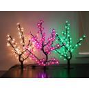 LED-Kirschblüten-Bäumchen in Grün, Lila und