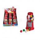Red Gumball  Machine, with ca. 25 g chewing gums, c