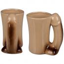 Keramik-Becher,  Penis, ca. 14 x 8.5 cm
