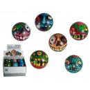 Soft bouncing  ball, Zombie, ca. 6,5 cm, 6 ass., 12