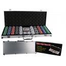 nagyker Társasjátékok: Póker szett  alumínium esetében 5 kockát, 2 kártyaj