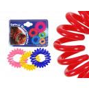 Spiral-Haargummi  mehrfarbig, Ø ca. 2 cm, 3 Stk Hän