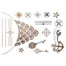 Metal Tattoo Flash  Tatuaże złoto srebrny metalik