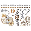 Metal Tattoo Flash  Tattoos gold metallic silver
