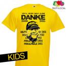 hurtownia Odziez dla dzieci i niemowlat: T-shirt dla dzieci  Dortmund żółty  dziękuję  KIDS