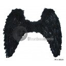 angel wings large black feathers
