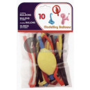 30cm set of 10  balloons to model with pump (blist