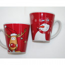 Coffee mug with moose or snowman