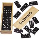nagyker Társasjátékok: Domino fa dobozban  16x5 cm utasításokkal