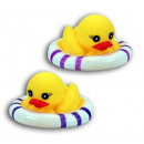 Duck - Rubber Duck  2-fach sort with Schwimmreifen-