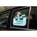 Window Decals  boys, baby on board, - ca 35x29