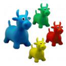 Hüpfkuh für Kinder  farbig sortiert - ca 63cm