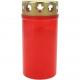 Grablicht Brenner Nr 3 rot mit Golddeckel