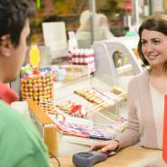 Kiosk en toonbankproducten