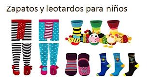 Zapatos y leotardos para niños