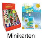 120 Minikarten mit Klammer im Display