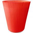 groothandel Woondecoratie: Geplooid manchet Ø10cm 100st rood