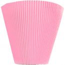 groothandel Woondecoratie: Geplooide mansch. 10cm roze S100