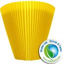 groothandel Woondecoratie: Geplooide Mansch. 14cm geel S100