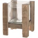 Windlight wood 16cm