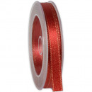 wholesale Decoration: Ribbon X-mas shimmer red 10mm20m
