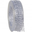 wholesale Decoration: Band Alma wire white 25mm20m