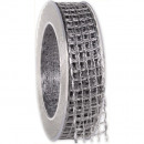 wholesale Decoration: Band Alma wire silver 25mm20m