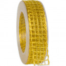 wholesale Decoration: Band Alma wire yellow 25mm20m
