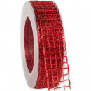 wholesale Decoration: Tape Alma wire red 25mm20m