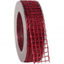 wholesale Decoration: Band Alma wire cardinal 25mm20m