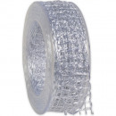 wholesale Decoration: Band Alma wire white 40mm20m