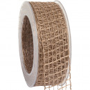 wholesale Decoration: Band Alma wire nature 40mm20m