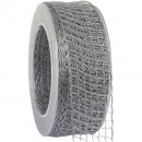 wholesale Decoration: Band Alma wire silver 40mm20m