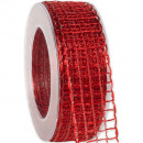 wholesale Decoration: Band Alma wire red 40mm20m