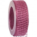 wholesale Decoration: Band Alma wire old pink 40mm20m