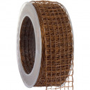 wholesale Decoration: Band Alma wire brown 40mm20m