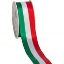 wholesale Decoration: National Taffeta green-white-red 40mm25m