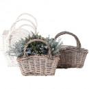 grossiste Plantes et pots: Sac de pâturage gris 27x17H25cm