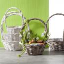 Willow ironing basket round S3 D28cm gray